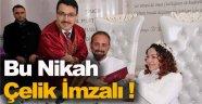 Engelli çift müftünün kıydığı nikahla dünyaevine girdi