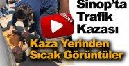 Sinop'ta Otomobil Kadına Çarptı !