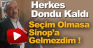 Aday Adayı Ersoy; Seçim Olmasa Sinop'a Gelmezdim !