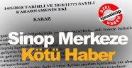 Sinop Merkezde Yatırım Yapacaklara Kötü Haber !