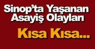Sinop'ta Asayiş Olayları