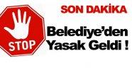 Sinop Belediyesi Yasak Uygulaması Başlattı !
