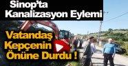 Vatandaşlardan Kanalizasyon Eylemi !
