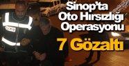 Sinop merkezli oto hırsızlığı operasyonu