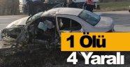 Sinop'ta iki otomobil çarpıştı: 1 ölü, 4 yaralı