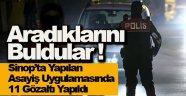 Sinop'ta aranan 11 zanlı yakalandı