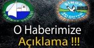 O HABERİMİZE VALİLİK ve BELEDİYE'DEN AÇIKLAMA !!!