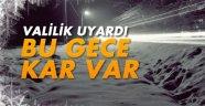 Sinop Valiliğinden Kar Yağışı Uyarısı !!!