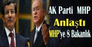 AK Parti İle MHP'nin Koalisyonunda 8 Bakanlık MHP'ye