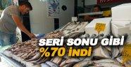 Balık fiyatları %70 düştü