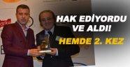"""Başkan Çakıcı'ya """"Yılın Belediye Başkanı"""" ödülü"""
