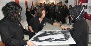 """Boyabat'ta """"Atatürk"""" resim sergisi açıldı"""