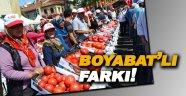 Boyabat'ta domates festivali yapıldı