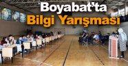 Boyabat'ta ilk ve ortaokullar arası bilgi yarışması