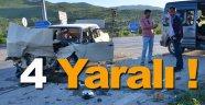 Boyabat'ta trafik kazası: 4 yaralı
