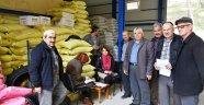 Boyabat'ta üreticilere çeltik tohumu dağıtıldı