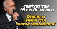 Cemiyet Başkanı Demirel'den 15 Eylül Mesajı