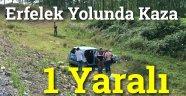 Erfelek Yolunda Trafik Kazası  1 Yaralı
