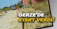 Gerze'de doğalgaz çalışmaları başladı.
