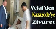 MİLLETVEKİLİ TOKMAK KAZAZEDEYİ ZİYARET ETTİ