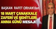 SİAD Başkanı Orhan'dan 18 Mart Mesajı