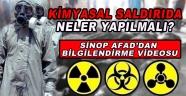 Sinop Afad'dan Kimyasal Saldırı Bilgilendirmesi