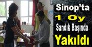 Sinop'ta Bir Oy Sandık Başında Yakıldı