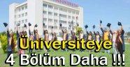 Sinop Üniversitesine Dört Bölüm Daha