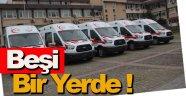 Sinop'ta ambulans filosuna 5 yeni araç eklendi