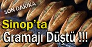 Sinop'ta Ekmeğin Gramajı Düştü !!!