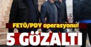 Sinop'ta FETÖ/PDY operasyonu, 5 gözaltı