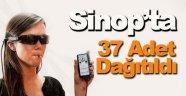 Sinop'ta görme engellilere cihaz dağıtıldı
