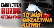 Sinop'ta huzur operasyonu - Sinop'ta çeşitli