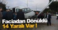 Sinop'ta iki servis minibüsü çarpıştı: 14 yaralı