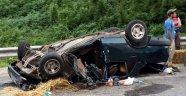 Sinop'ta otomobil devrildi: 1 ölü, 3 yaralı