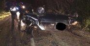 Sinop'ta otomobil devrildi: 1 ölü