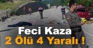 Sinop'ta otomobil devrildi: 2 ölü, 4 yaralı