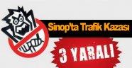 Sinop'ta otomobil devrildi: 3 yaralı