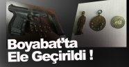 Sinop'ta tarihi eser ve ruhsatsız silah operasyonu