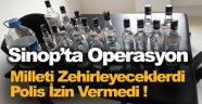 Sinop'ta uyuşturucu ve kaçak içki operasyonu