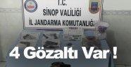 Sinop'ta uyuşturucu ve ruhsatız silah operasyonu