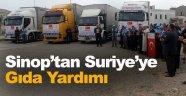 Sinop'tan Suriye'ye gıda yardımı