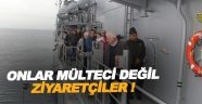 TCG Turgut Reis gemisi Sinop'a demirledi