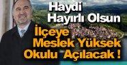 Türkeli İlçesine Meslek Yüksek Okulu Açılacak
