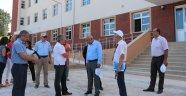 Vali İpek'ten okul inşaatında inceleme