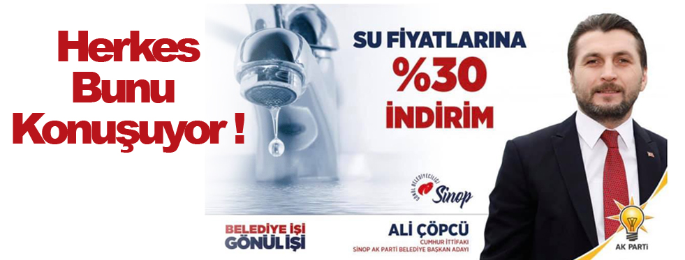 AK Parti'den Su Müjdesi !