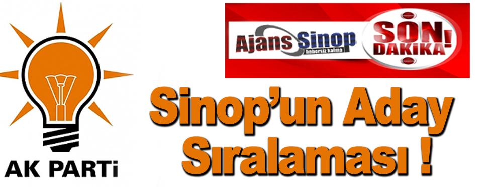 İşte AK Parti'nin Sinop Adayları !