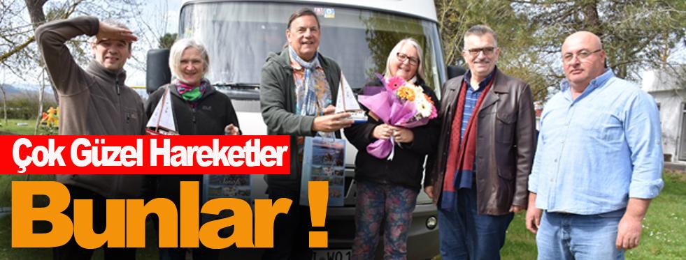 Kültür Müdürü Tosun, İlk Turistleri Çiçeklerle Karşıladı !