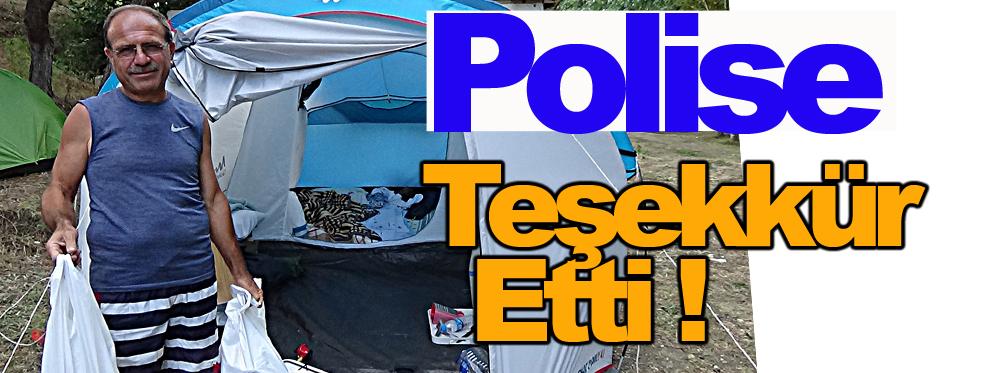 Polis, Kamp malzemelerini çalan hırsızları dakikalar içerisinde yakaladı