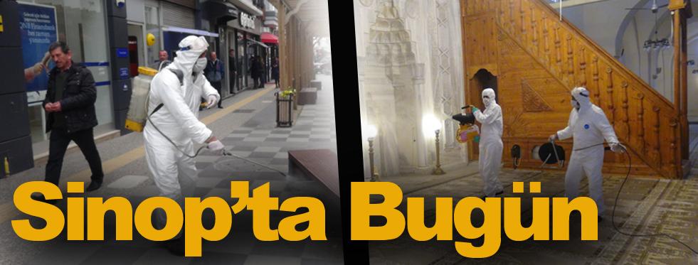 Sinop'ta cadde ve sokaklar dezenfekte edildi.